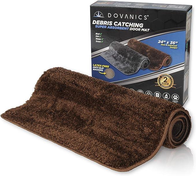 Dovanics Absorbent Door Mat Indoor 24 X36 Debris Catching Rv Rugs For Inside 2x3 Rug Non Slip Washable Door Mat Perfect For Muddy Pet Paws Great Blank Doormat