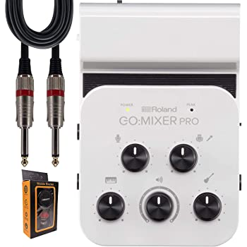 "BOSS Roland GO:Mixer PRO Smartphones with 9-in/2-out Audio Line Mixer (Battery, USB) with +48V Phantom Power + 1/4"" Cable + Magnet (GOMIXERPRO"