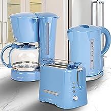 ONVAYA® Set petit-déjeuner | Bleu clair | Machine à café, grille-pain, bouilloire | Série petit déjeuner 3 en 1 | Cafetièr...