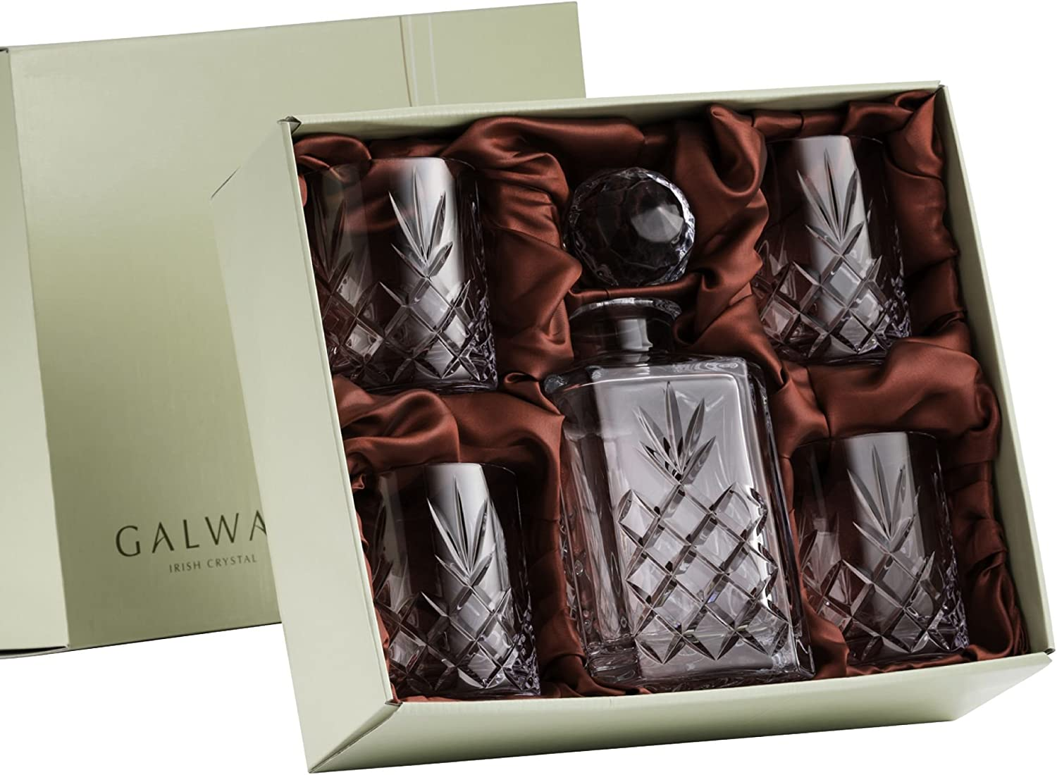 Galway Crystal 35080 Renmore Decanter Drink ware Sets, Transparent