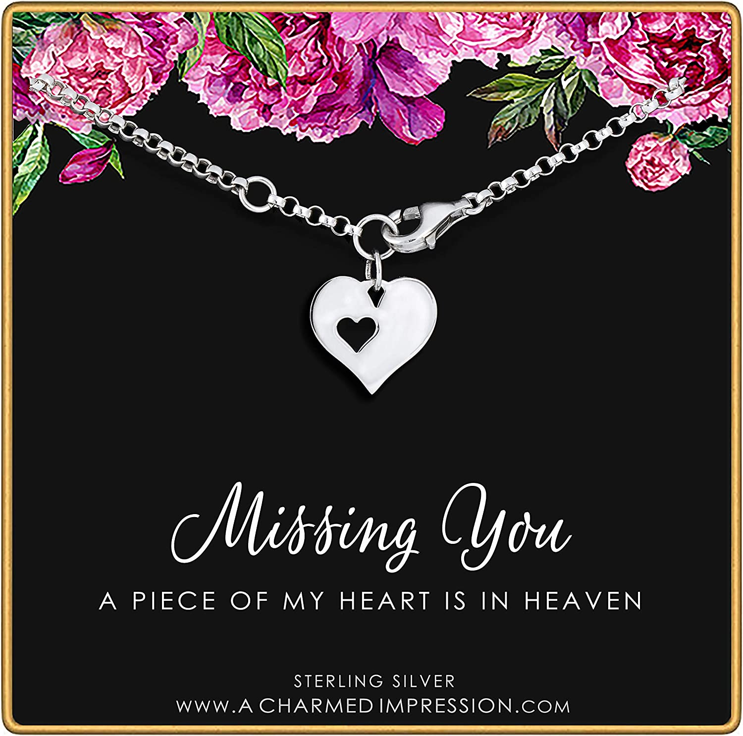 Sterling Silver Remembrance Charm Bracelet Ranking TOP10 Missing Price reduction You A •