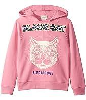 Gucci Kids - Black Cat Hoodie (Little Kids/Big Kids)