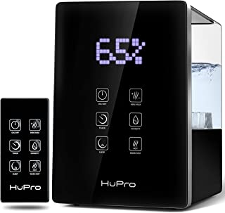 Air Humidifier for Bedroom Top Fill 6L Large Capacity for Large Room Warm& Cool Mist..