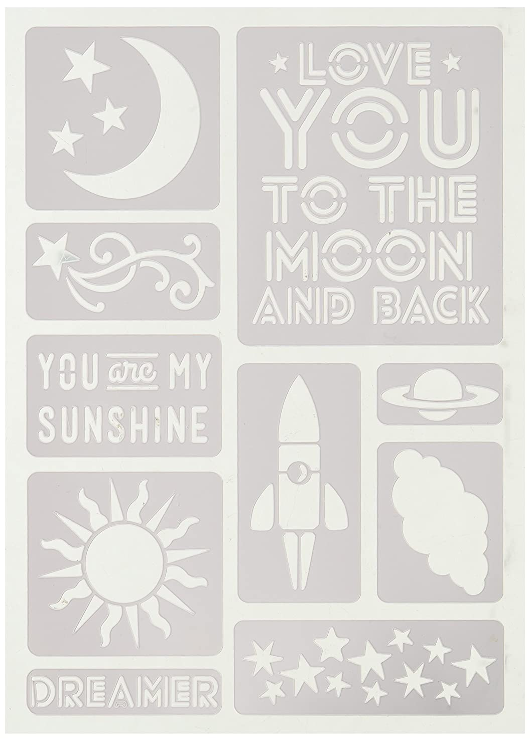 Momenta Love You to The Moon Adhesive Stencil