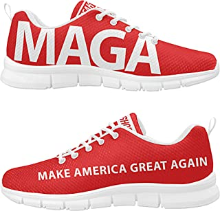 MAGA Make America Great Again Custom President Donald Trump Men's Breathable Running Sneakers