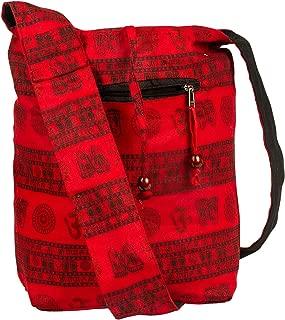 Tribe Azure Hobo Bag OM Symbol Cotton Canvas Large Messenger Handbag Shoulder Comfortable Roomy Fashion