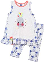 Deux par Deux Baby Girls' Top and Leggings Set Cold Press Fashion, Sizes 12M-6