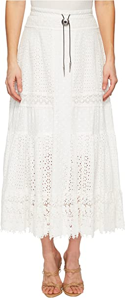English Embroidered Cotton Skirt