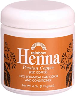 Rainbow Research Henna Hair Color and Conditioner Persian, Copper Red, 4 Fluid Ounce