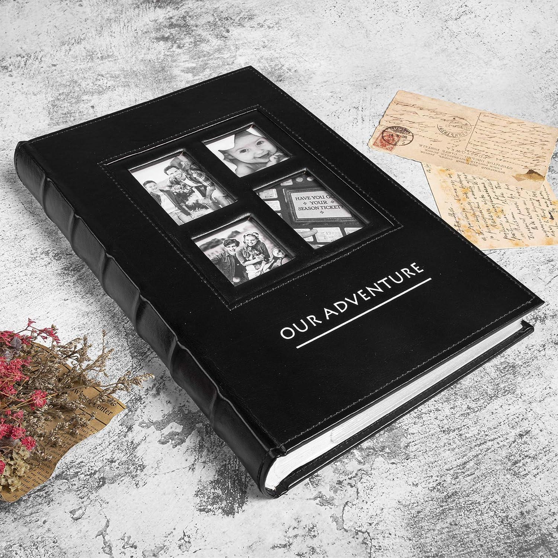 50% Off Coupon – Vintage Leather Photo Album 300 Pockets Scrapbook Photo Album
