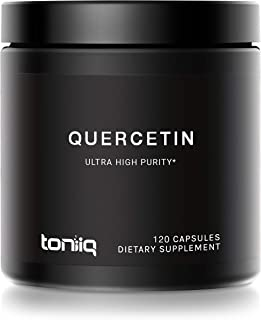 Ultra High Purity Quercetin Capsules - 95%+ Highly Purified for Increased Bioavailability - 1000mg Per Serving - Naturally...