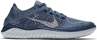 Nike Women's Free RN Flyknit 2018 Squadron Blue/Pure Platinum-Light Carbon 9.0