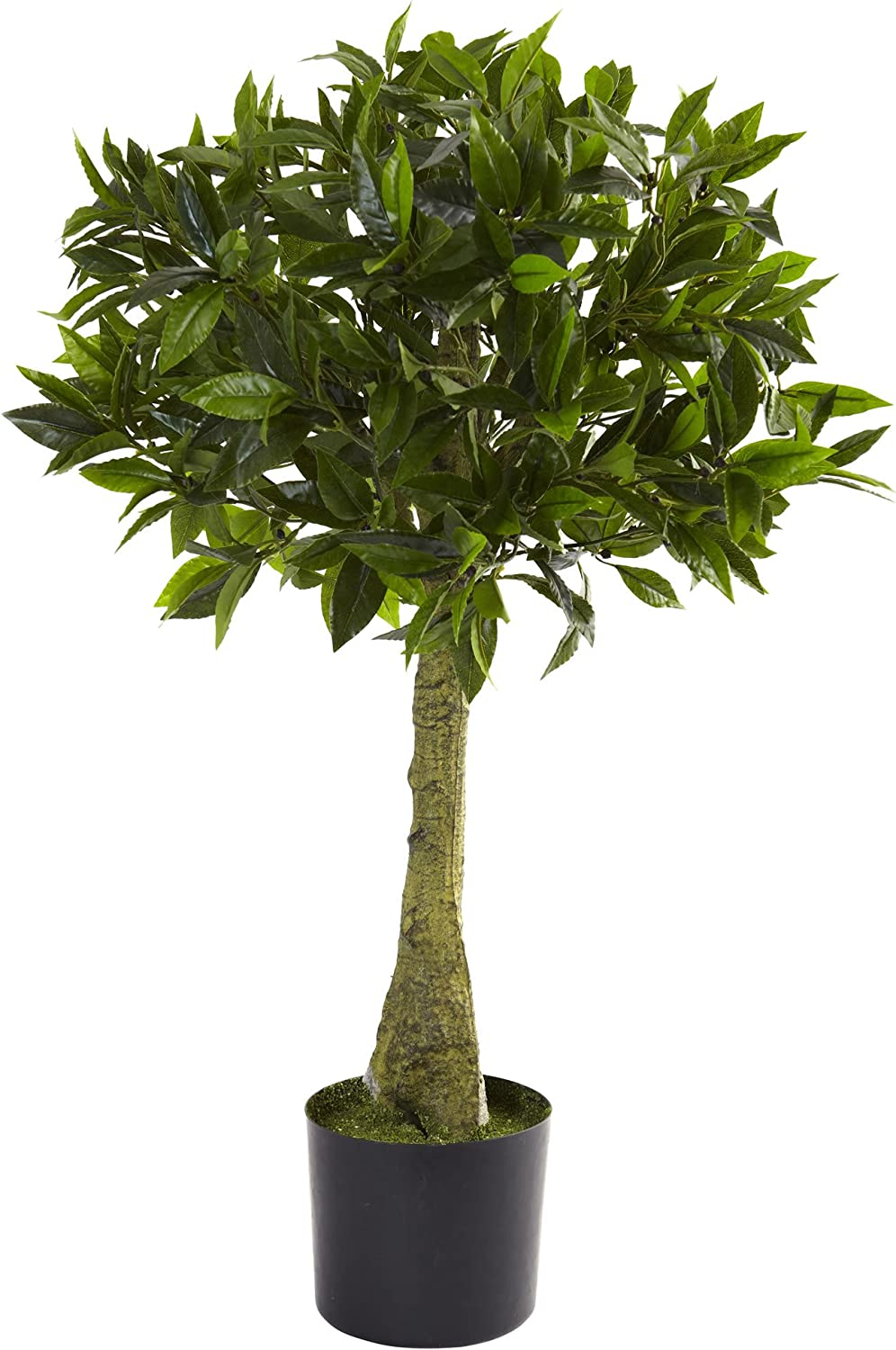 Time sale We OFFer at cheap prices Nearly Natural Bay Leaf Topiary Pla Tree Artificial UV Resistant