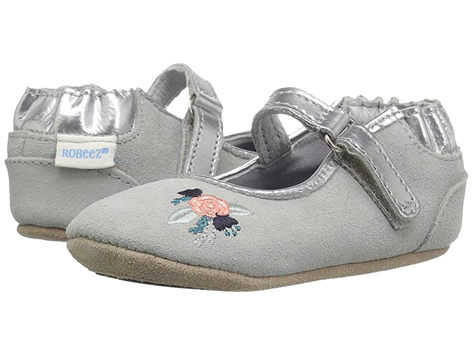 Robeez Blossom Ballet Mini Shoes (Infant/Toddler) (Grey) Girl