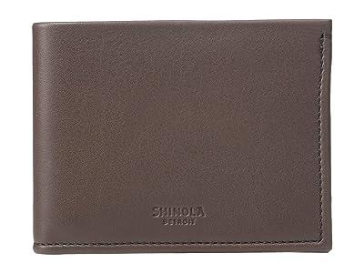 Shinola Detroit Slim Bifold (Chocolate) Wallet Handbags
