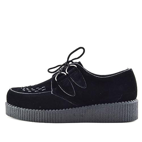 248580174179 Kick Footwear Mens Flat Black Platform Teddy BOY Lace up Goth Punk Creepers  Shoes Boots Size