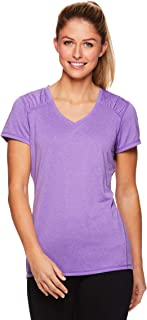 HEAD Women's Perfect Match Short Sleeve Workout T-Shirt - Performance V-Neck Activewear Top
