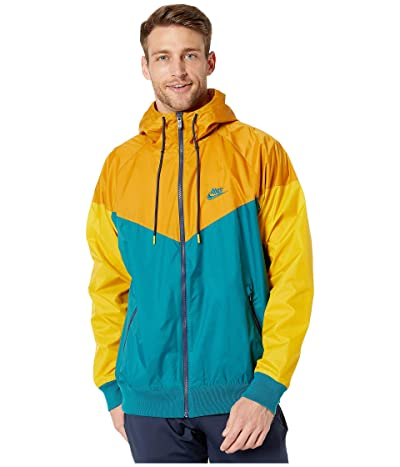Nike NSW Windrunner Hoodie Jacket (Geode Teal/Gold Suede/Geode Teal) Men
