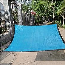 LIXIONG Sunblock schaduwdoek, schaduwdoek anti-aging anti-UV-doorvoertule blauw, terras tuin balkon zwembad, maat maatwer...