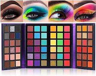 72 Colors Ultra Secret Eyeshadow Palette, Professional 4 in1 Color Board Makeup Pallet Matte Shimmer Glitter Nude Natural ...