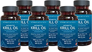 Best Krill Oil Supplement - Antarctic Krill Oil 1250 mg, Crill Oil Omega 3 with Astaxanthin, DHA Supplements for Joint and Brain Health, No Fishy Taste & Easy to Swallow, 360 Capsules Review