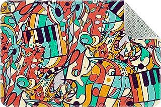 Doormat Custom Indoor Welcome Door Mat, Colored Music Symbols Home Decorative Entry Rug Garden/Kitchen/Bedroom Mat Non-Sli...