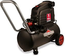 Briggs & Stratton 8-Gallon Air Compressor, Hotdog 074025-00,Black