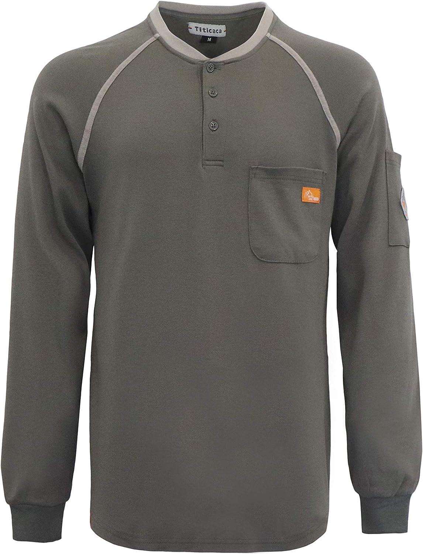 TITICACA FR Shirts 7oz Flame Fire Resistant Shirt Max 77% OFF Retardan New mail order Men's