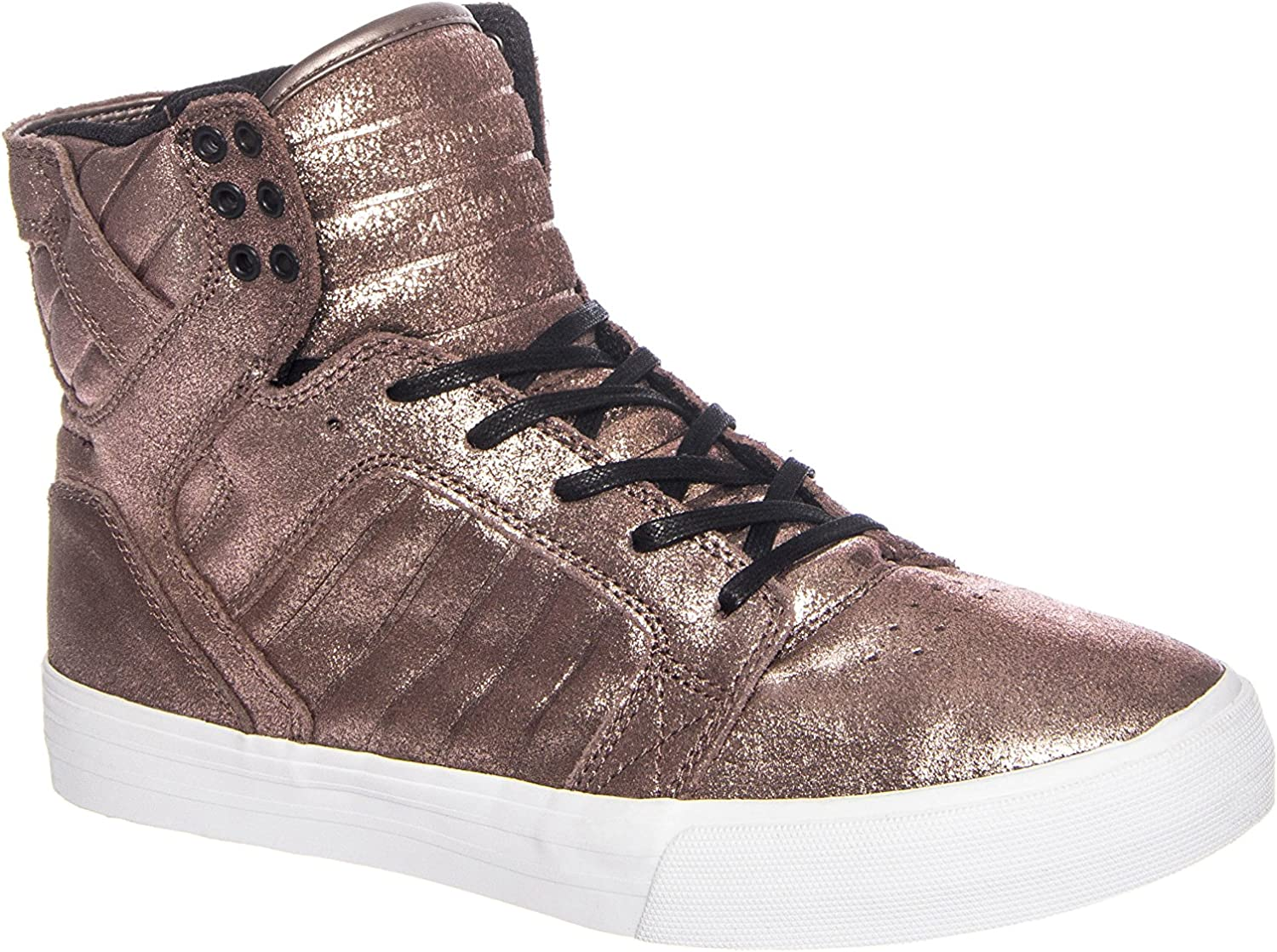 Supra Men's Skytop pink gold Metallic White Sneaker Men's 11.5 D (M)