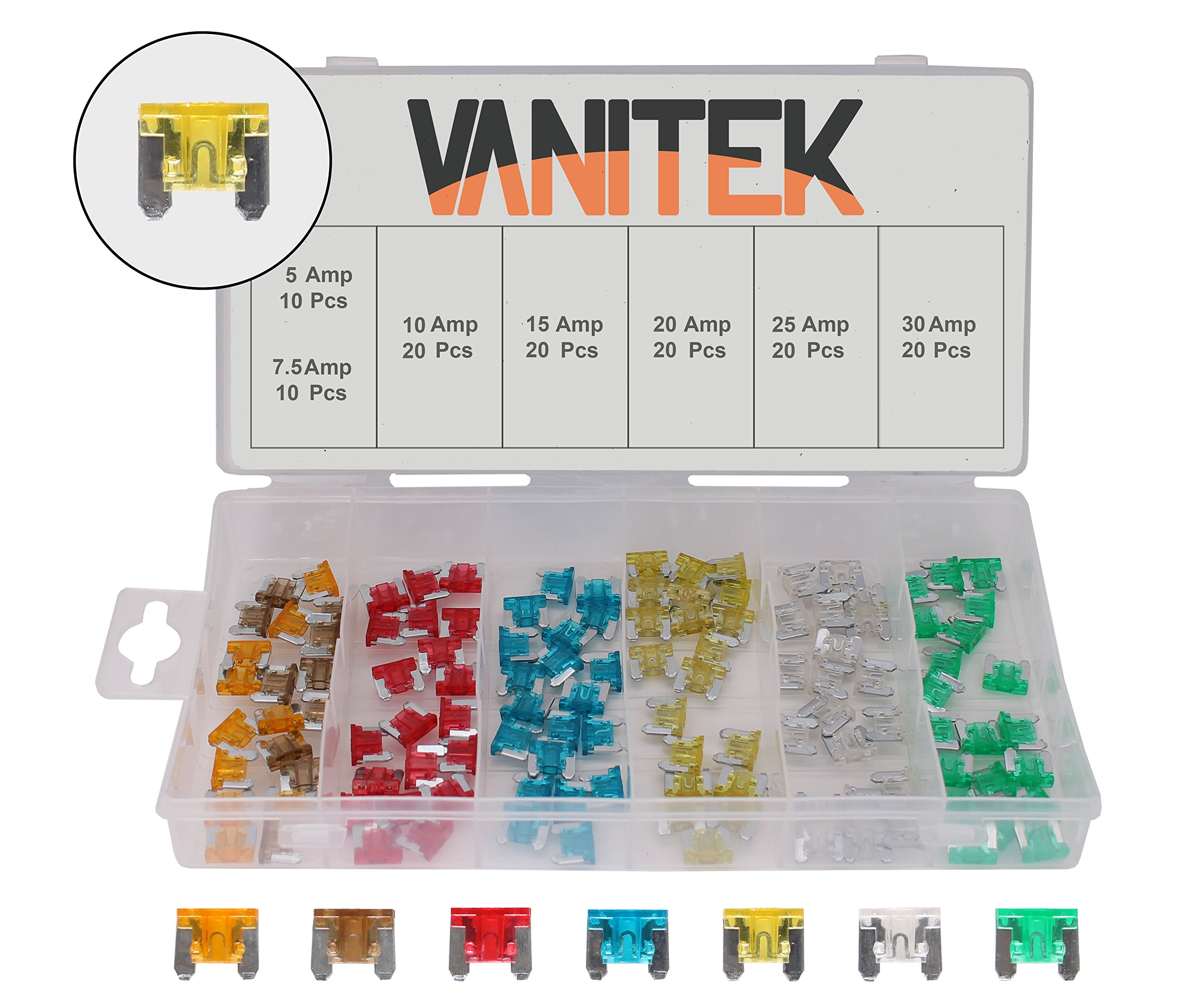 removal tool 120 Assorted Car Truck Mini Low Profile Fuse