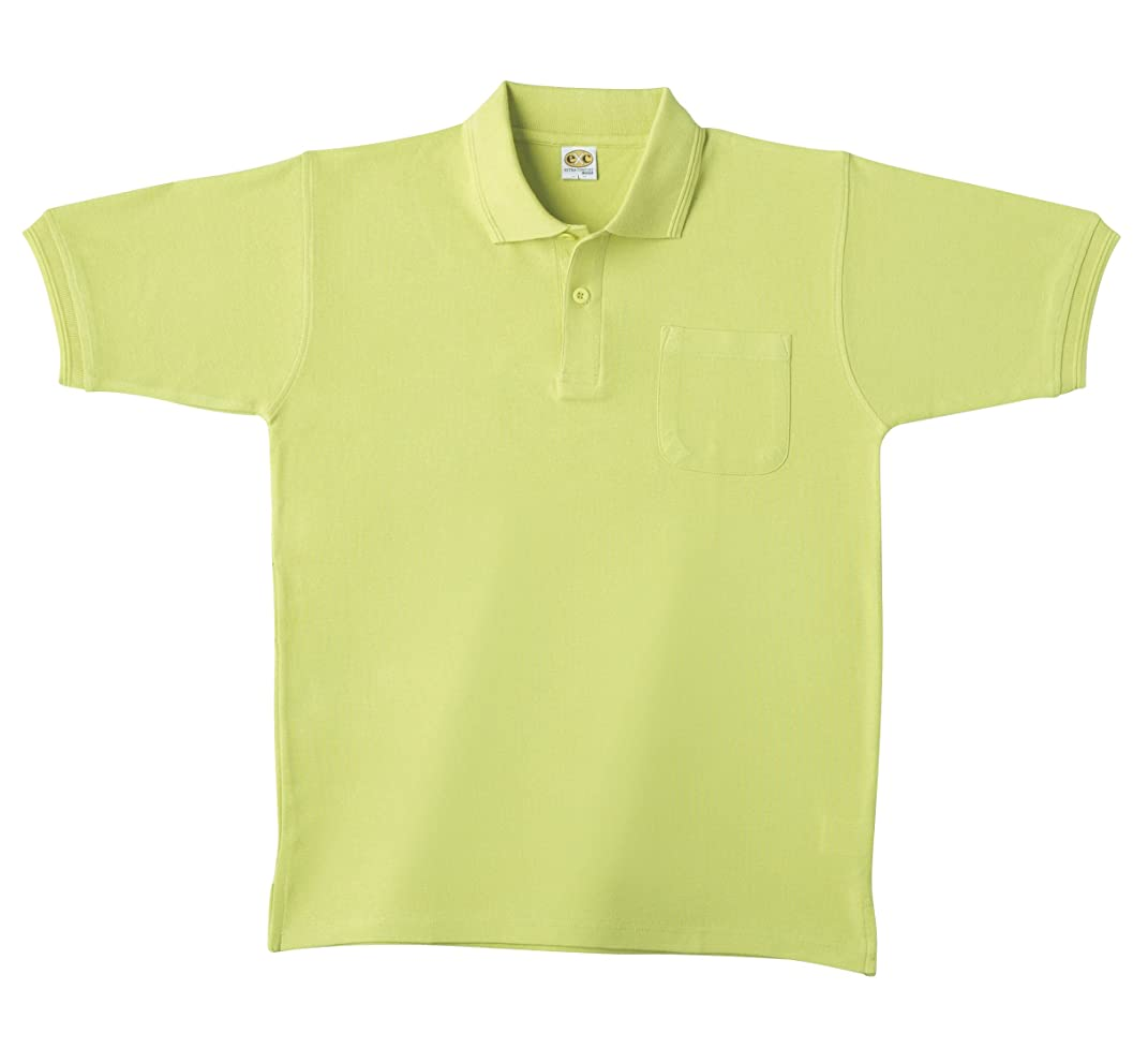 木製縫い目再生SOWA(ソーワ) 半袖ポロシャツ ライム Lサイズ 0097