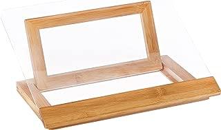 Lipper International 8815 Bamboo Wood and Acrylic Cookbook Holder, 12-1/2