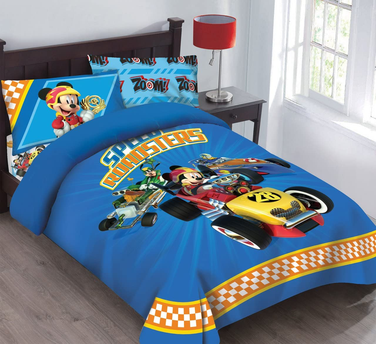 Disney Limited time for free shipping Mickey Mouse Ranking TOP13 Speed Roadster Licensed Full Comforter w Set