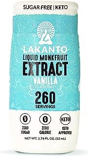Lakanto Liquid Monkfruit Extract Sweetener, Sugar-Free Keto Drops (Vanilla - 1.85 Ounce)