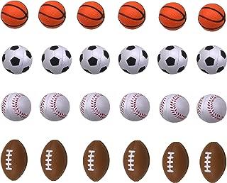 Shxstore Mini Foam Sports Ball for Kids, Mini Soccer Ball,Basketball, Football, Baseball 24 Counts