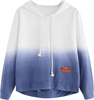 blue and white tie dye sweatshirt