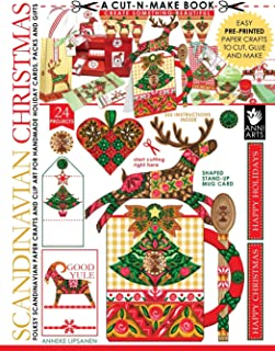 Scandinavian Christmas Cut-N-Make Book: Folksy Scandinavian Paper Crafts and Clip Art for Handmade Holiday Cards, Packs and Gifts