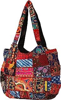 Tribe Azure Fair Trade Damen-Umhängetaschen aus Baumwolle