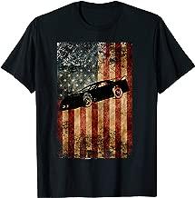Late Model Dirt Track Racing Shirt Distressed American Flag
