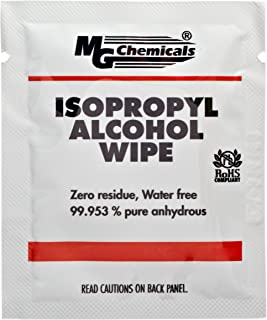 MG Chemicals 99.9% Isopropyl Alcohol Wipes, 6