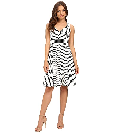 Adrianna Papell Striped Ottoman Knit Dress at 6pm 97cf26a41