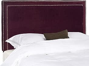 Safavieh Cory Bordeaux Velvet Upholstered Headboard - Silver Nailhead (Queen)
