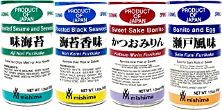Mishima Rice Seasoning Furikake Variety Pack | 4 Flavors | Product of Japan