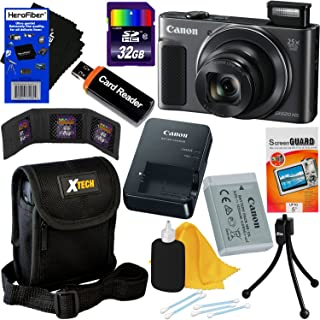 Canon PowerShot SX620 HS 20.2 MP Wi-Fi Digital Camera with 25x Optical Zoom & HD 1080p Video (Black) International Version + 10pc 32GB Accessory Kit w/HeroFiber Gentle Cleaning Cloth