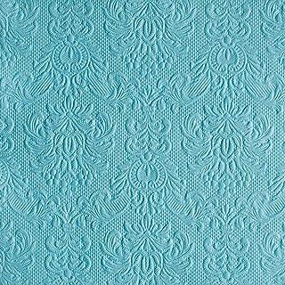 Ambiente elegance lot de 15 serviettes en papier gaufré light chaussettes bleu pétrole/turquoise/bleu