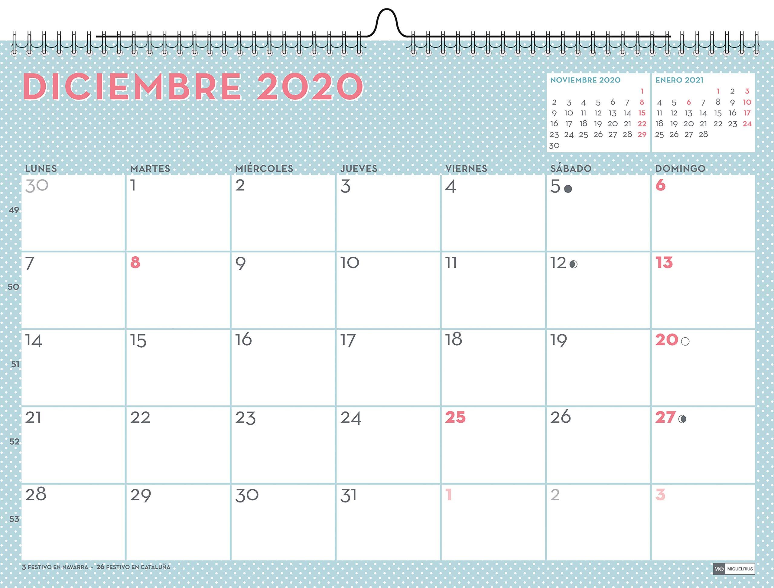 Miquelrius 28051 - Calendario de Pared A3 Lovely DIY 2020 ...