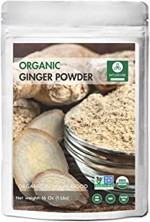 Sponsored Ad - Naturevibe Botanicals Organic Ginger Root Powder (1lb), Zingiber officinale Roscoe | Non-GMO verified and G...