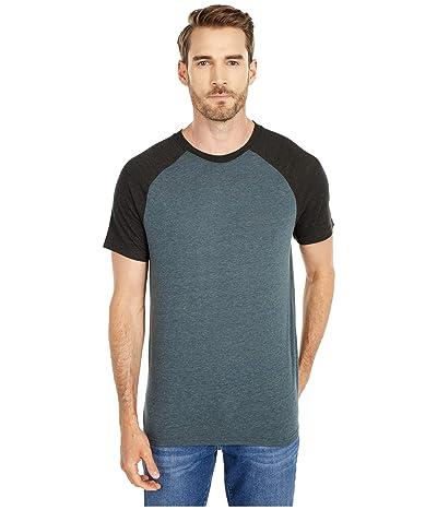 Threads 4 Thought Tri-Blend Short Sleeve Contrast Raglan Tee (Gunmetal/Iron) Men