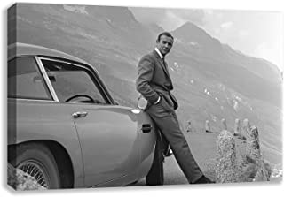 SEAN CONNERY 007 ASTON MARTIN DB5 JAMES BOND CANVAS WALL ART (44