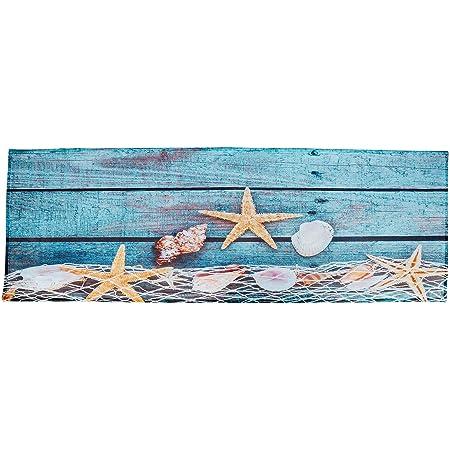 JoneAJ Pesce mare blu corallo casa accogliente tappetino tappetino bagno antiscivolo camera letto tappeto tappetinotappeto doccia decorativo flanella materiale 40x60 cm